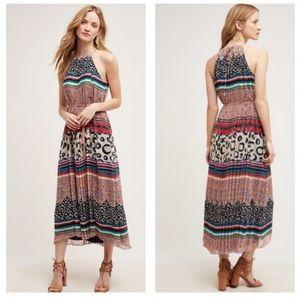 Anthropologie Donna Morgan Mayrona Boho Midi Dress